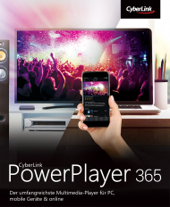 CyberLink PowerPlayer 365 für Windows Jahresabo (Download), Best.Nr. CY-326, erschienen 05/2020, € 39,95