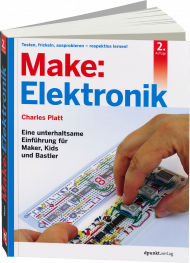 Make: Elektronik, ISBN: 978-3-86490-368-7, Best.Nr. DP-368, erschienen 11/2016, € 34,90