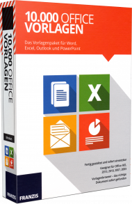 10.000 Office Vorlagen für Word, Excel, Outlook und PowerPoint, EAN: 9783645705837, Best.Nr. FR-70583, erschienen 10/2016, € 29,95