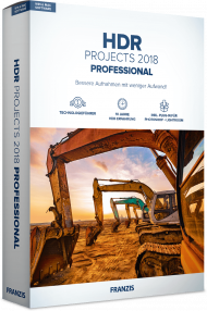 FRANZIS HDR PROJECTS 2018 Professional (Download), EAN: 4019631311559, Best.Nr. FRO-1155, erschienen 11/2018, € 69,95