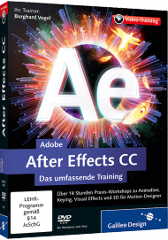 Adobe After Effects CC (Videotraining), Best.Nr. GP-2437, € 44,95