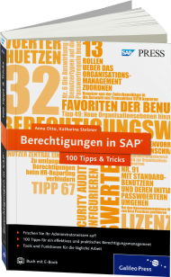 Berechtigungen in SAP - 100 Tipps & Tricks, Best.Nr. GP-2615, € 49,90