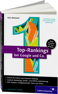 Top-Rankings bei Google und Co., ISBN: 978-3-8362-2896-1, Best.Nr. GP-2896, erschienen 09/2014, € 24,90