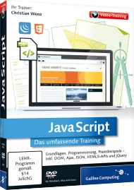 JavaScript - Das umfassende Videotraining, Best.Nr. GP-2905, € 35,95