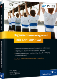 Organisationsmanagement mit SAP ERP HCM, ISBN: 978-3-8362-3075-9, Best.Nr. GP-3075, erschienen 01/2015, € 69,90