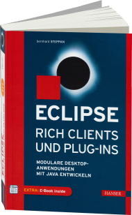 Eclipse Rich Clients und Plug-ins, ISBN: 978-3-446-43172-0, Best.Nr. HA-43172, erschienen 07/2015, € 44,99