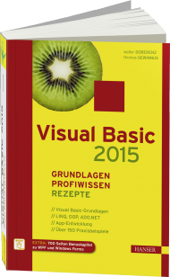 Visual Basic 2015, ISBN: 978-3-446-44380-8, Best.Nr. HA-44380, erschienen 09/2015, € 49,99