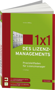 1x1 des Lizenzmanagements, ISBN: 978-3-446-44392-1, Best.Nr. HA-44392, erschienen 01/2016, € 59,99
