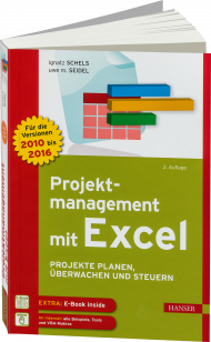 Projektmanagement mit Excel, ISBN: 978-3-446-44797-4, Best.Nr. HA-44797, erschienen 09/2016, € 40,00
