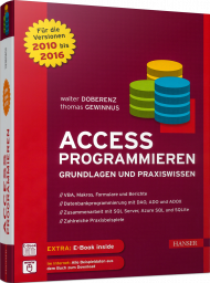 Access programmieren, ISBN: 978-3-446-45027-1, Best.Nr. HA-45027, erschienen 06/2016, € 60,00