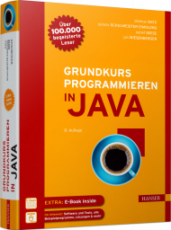 Grundkurs Programmieren in Java, ISBN: 978-3-446-45212-1, Best.Nr. HA-45212, erschienen 11/2018, € 39,00