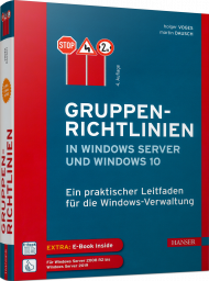 Gruppenrichtlinien in Windows Server und Windows 10, ISBN: 978-3-446-45549-3, Best.Nr. HA-45549, erschienen 12/2018, € 54,00