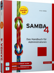 Samba 4, ISBN: 978-3-446-45591-7, Best.Nr. HA-45591, erschienen 01/2019, € 49,00
