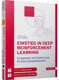 Einstieg in Deep Reinforcement Learning, ISBN: 978-3-446-45900-7, Best.Nr. HA-45900, erschienen 10/2020, € 39,99