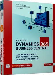 Microsoft Dynamics 365 Business Central, ISBN: 978-3-446-46257-1, Best.Nr. HA-46257, erschienen 05/2020, € 49,99