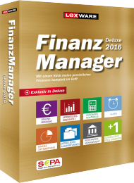 Lexware Finanzmanager Deluxe 2016 f�r 2 PCs, Best.Nr. LX-6049, € 67,95