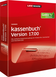 Lexware kassenbuch Version 17.00 / 2018 (Download), EAN: 9783648099544, Best.Nr. LXO1180, erschienen 06/2017, € 89,00