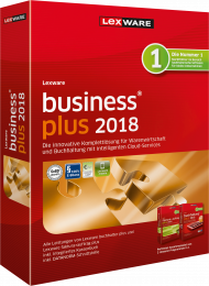 Lexware business plus 2018 (Download), EAN: 9783648101810, Best.Nr. LXO1194, erschienen 12/2017, € 379,00