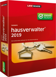 Lexware hausverwalter 2019 (Download), Best.Nr. LXO1202, erschienen 06/2018, € 251,75