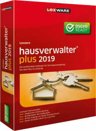 Lexware hausverwalter plus 2019 (Download), Best.Nr. LXO1203, erschienen 06/2018, € 367,20