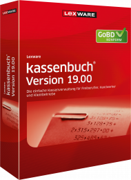 Lexware kassenbuch Version 19.00 / 2020 (Download), EAN: 9783648124680, Best.Nr. LXO1221, erschienen 06/2019, € 99,95