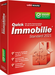 QuickImmobilie Standard 2021 Jahresversion (Download), EAN: 9783648143643, Best.Nr. LXO1237, erschienen 06/2020, € 119,00
