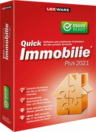QuickImmobilie Plus 2021 Jahresversion (Download), EAN: 9783648143100, Best.Nr. LXO1238, erschienen 06/2020, € 169,00