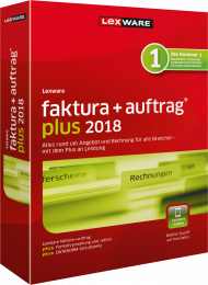 Lexware faktura+auftrag plus 2018 (Download), EAN: 9783648104163, Best.Nr. LXO3058, erschienen 11/2017, € 189,00