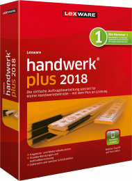 Lexware handwerk plus 2018 (Download), EAN: 9783648104743, Best.Nr. LXO4169, erschienen 12/2017, € 239,00