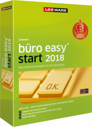 Lexware büro easy start 2018 (Download), EAN: 9783648100493, Best.Nr. LXO4171, erschienen 12/2017, € 84,95