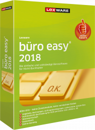 Lexware büro easy 2018 (Download), EAN: 9783648100875, Best.Nr. LXO4172, erschienen 12/2017, € 139,95