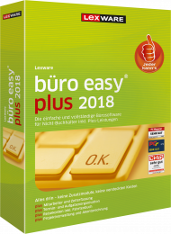 Lexware büro easy plus 2018 (Download), EAN: 9783648102084, Best.Nr. LXO4173, erschienen 12/2017, € 219,00