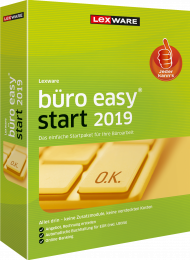 Lexware büro easy start 2019 (Download), EAN: 9783648112663, Best.Nr. LXO4178, erschienen 12/2018, € 86,20