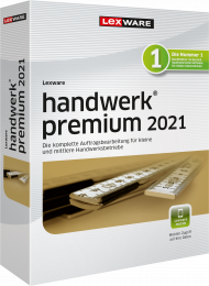 Lexware handwerk premium 2021 Jahresversion (Download), EAN: 9783648144374, Best.Nr. LXO4203, erschienen 12/2020, € 729,00