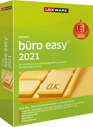 Lexware büro easy 2021 Jahresversion (Download), EAN: 9783648143889, Best.Nr. LXO4204, erschienen 12/2020, € 169,00