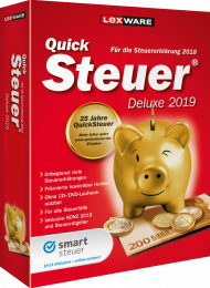 QuickSteuer Deluxe 2019 (Download), EAN: 9783648112458, Best.Nr. LXO5051, erschienen 11/2018, € 28,70