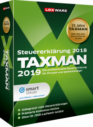 TAXMAN 2019 Rentner & Pensionäre (Download), EAN: 9783648112946, Best.Nr. LXO5055, erschienen 11/2018, € 33,95