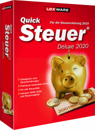 QuickSteuer Deluxe 2020 (Download), EAN: 9783648132647, Best.Nr. LXO5058, erschienen 11/2019, € 28,95