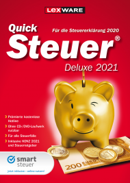 QuickSteuer Deluxe 2021 (Download), EAN: 9783648144251, Best.Nr. LXO5064, erschienen 11/2020, € 28,95