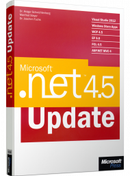 Microsoft .NET 4.5 Update, ISBN: 978-3-86645-468-2, Best.Nr. MS-5468, erschienen 01/2013, € 19,00