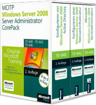 MCITP / MCSA Windows Server 2008 R2 Server Administrator CorePack, Best.Nr. MS-5994, € 179,00