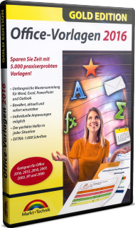 Office-Vorlagen 2016 - Gold Edition, Best.Nr. MT-2731, € 11,95
