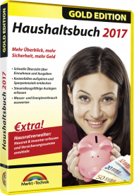 Haushaltsbuch 2017 - Gold Edition, Best.Nr. MT-2770, € 23,95