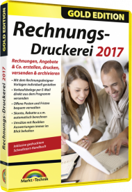 Rechnungs-Druckerei 2017 - Gold Edition, Best.Nr. MT-2772, € 18,95
