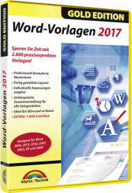 Word-Vorlagen 2017 - Gold Edition, EAN: 4251357804971, Best.Nr. MT-80497, erschienen 05/2017, € 6,95