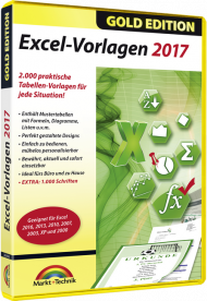 Excel-Vorlagen 2017 - Gold Edition, EAN: 4251357804988, Best.Nr. MT-80498, erschienen 05/2017, € 6,95