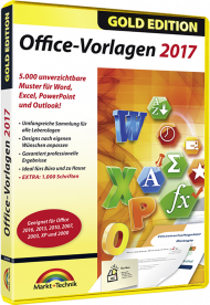 Office-Vorlagen 2017 - Gold Edition, EAN: 4251357804995, Best.Nr. MT-80499, erschienen 05/2017, € 11,95