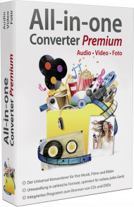 All-in-one Converter Premium - Audio, Video, Foto, Best.Nr. MT-80502, € 19,99