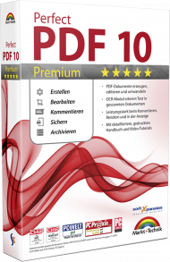 Perfect PDF 10 Premium, EAN: 4251357805121, Best.Nr. MT-80512, erschienen 09/2017, € 39,99