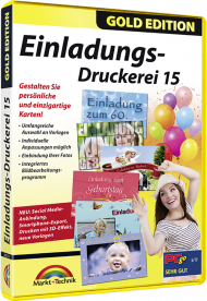 Einladungs-Druckerei 15 - Gold Edition, EAN: 4251357805145, Best.Nr. MT-80514, erschienen 09/2018, € 13,95